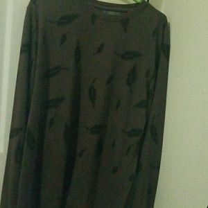 Long sleeve feather sweatshirt